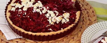 Süß pikante Rotkraut-Quiche - Bild
