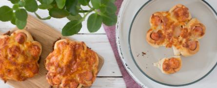 Silvester Fingerfood - Würstel-Blumen - Bild
