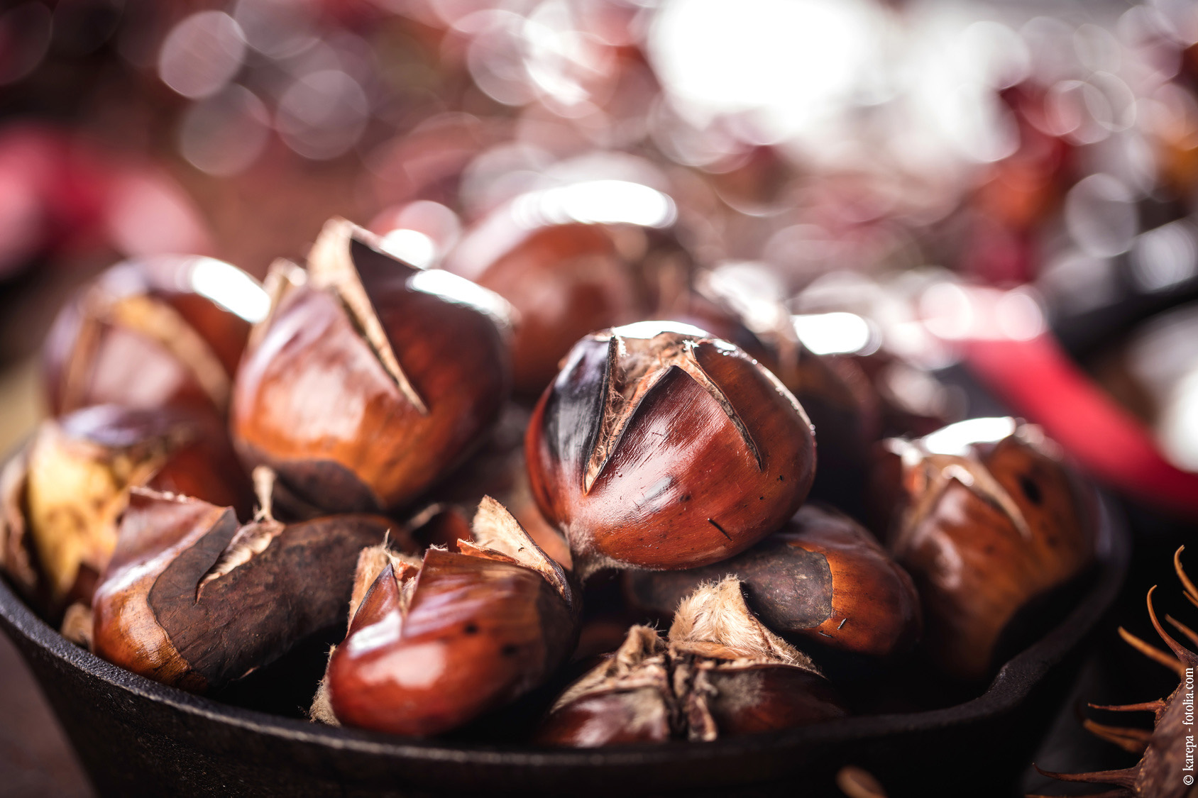 Wärmende Lebensmittel Maroni
