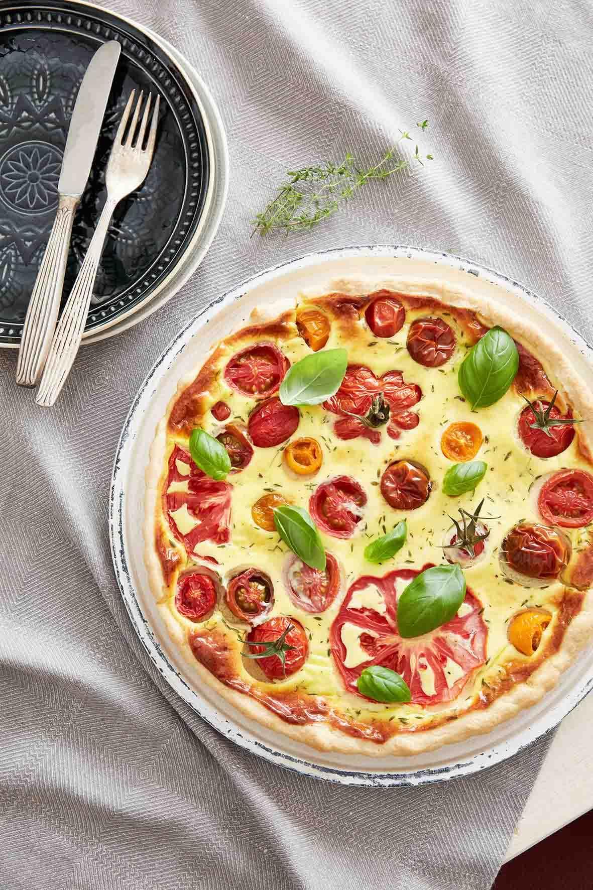 Quiche mit bunten Tomaten - Tante Fanny