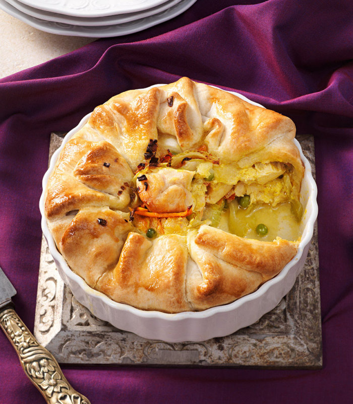 Huhn-Curry Pie Tante Fanny