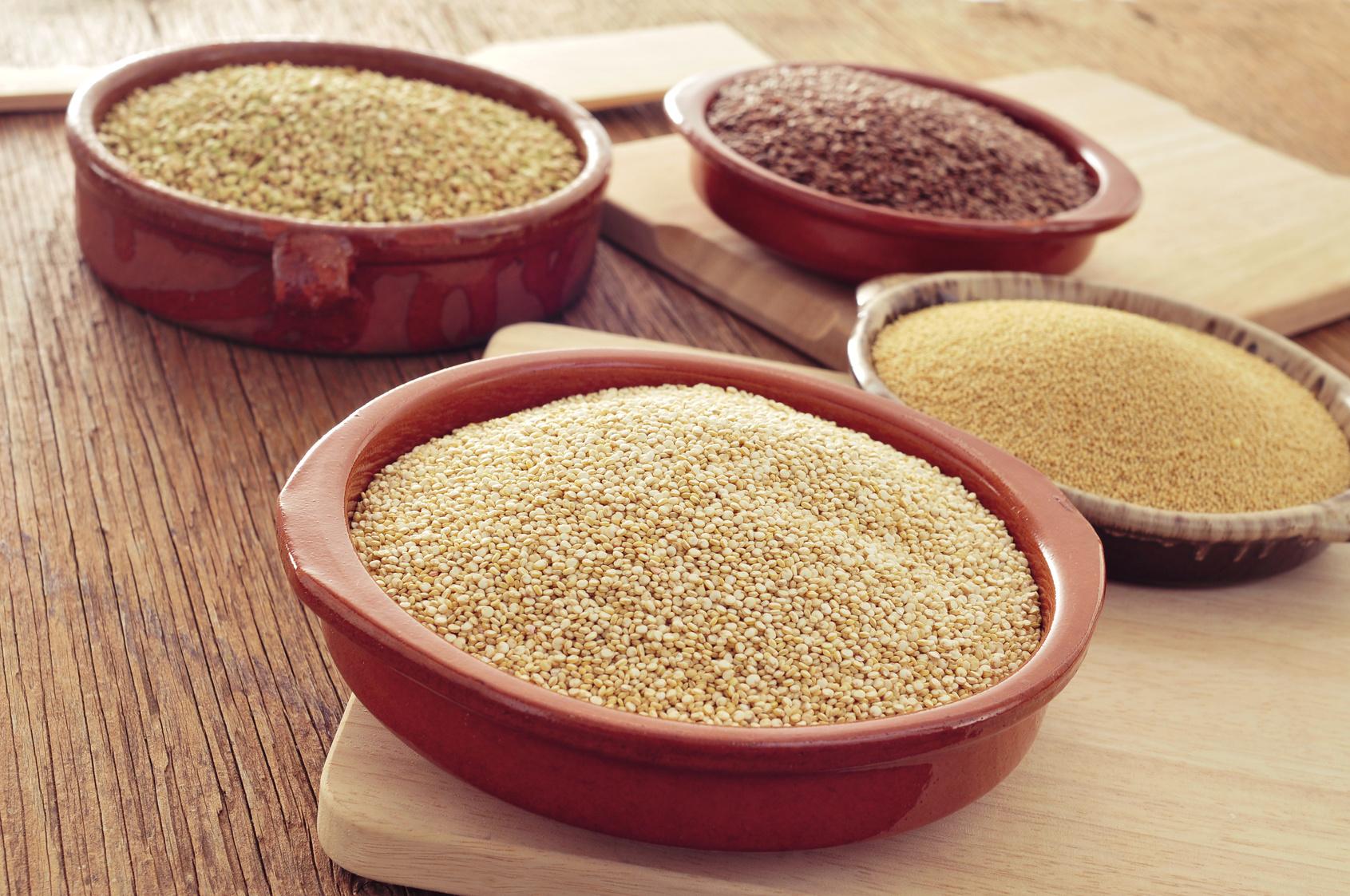 Quinoa, Amaranth, Buchweizen