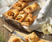 Blätterteigtaschen mit mediterranem Gemüse