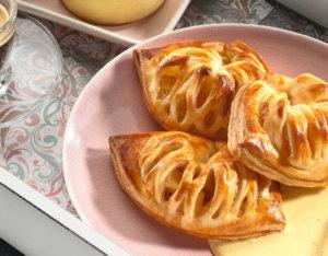 Apfel-Pudding-Taschen