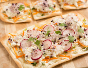 Flammkuchen mit Cottage Cheese