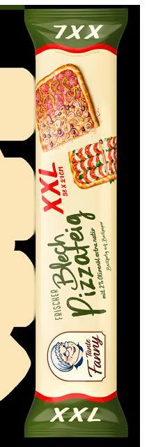 Frischer Blech-Pizzateig XXL