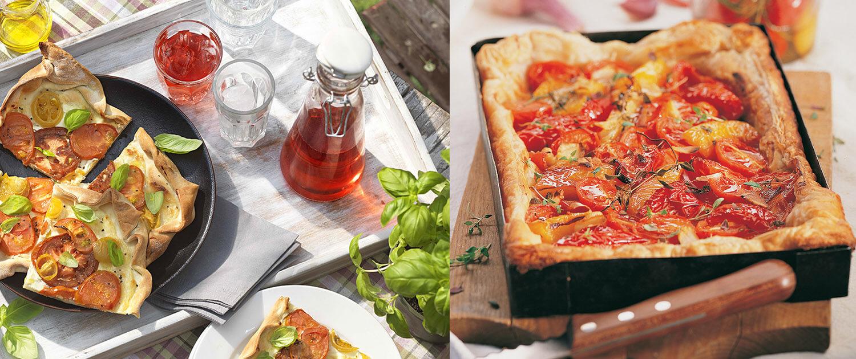 Tomaten-Flammkuchen, Tomaten-Blechkuchen Querkochen