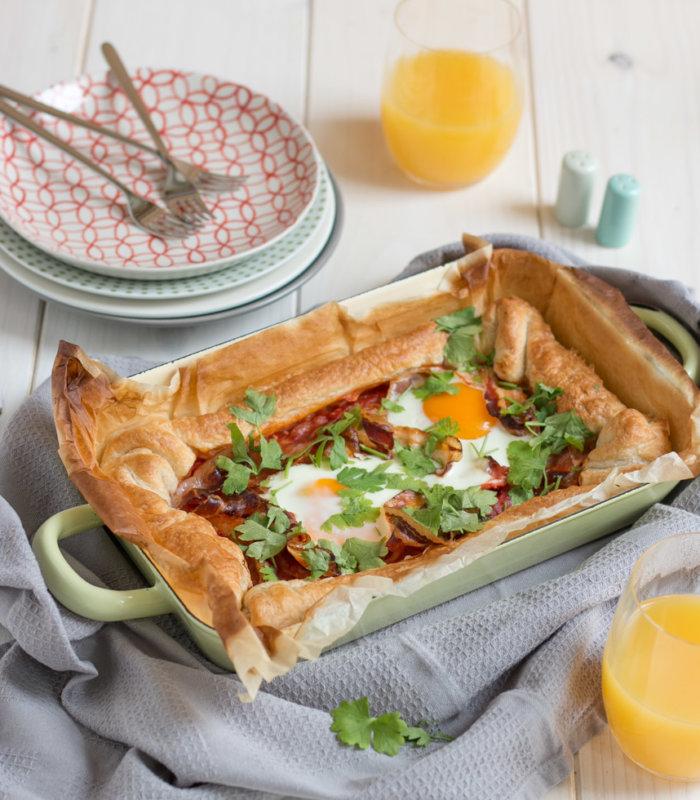 Frühstücks-Blätterteig Quiche
