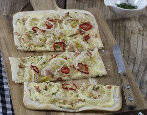 Flammkuchen mit Sauerkraut