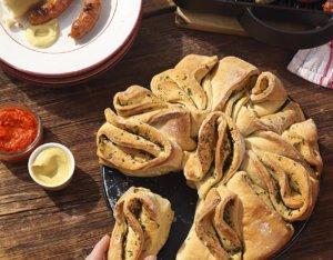 Knoblauch-Zupfbrot mit Kräutern