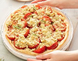 Tomatenquiche mit Rosmarinstreusel