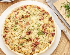 Sauerkraut-Quiche mit Knusperbratl