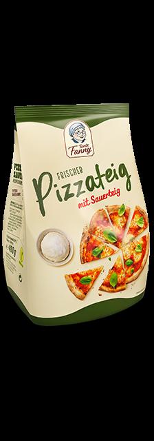 Frischer Pizzateig mit Sauerteig