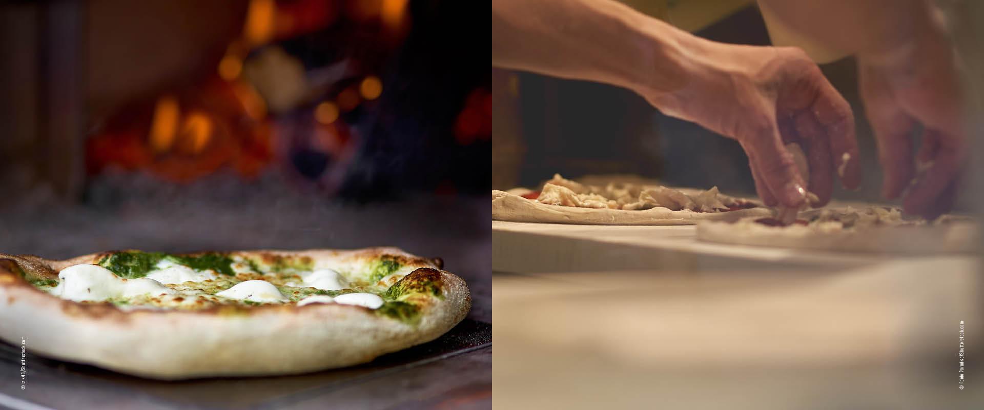 Pinsa und Pizza